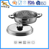 Stainless Steel Cookware Oval Roaster with Rack and Lid