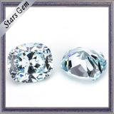 High Quality Cushion Cut Light Blue CZ Stone for Jewelry
