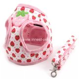 Pet accessory Strawberry Cute Dog Harness with Leash