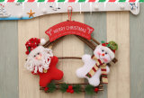 New Christmas Cloth Art Card Door Hang Creative Frame Door Hanging