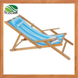 Bamboo Foldable Sun Lounger / Leisure Beach Chair for Outdoor