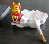 Promotion Round White Ceramic Cigarette Ashtray (HG007)