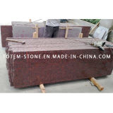 Polished Natural Red Granite Slab for Tombstone, Paving