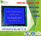 160X128 COB Graphic LCD Screen, T6963c, 22pin, for POS, Doorbell, Medical, Cars