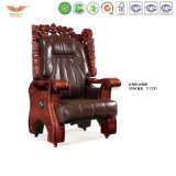 Luxury Wooden Executive Leather Chair (A-060)