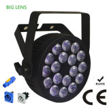 Powercon Slim Compact RGBWA UV Stage Light LED PAR with Ce Certification (18HX)