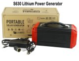 Portable Solar Power Supply with Battery and Inverter