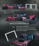 Divany Italian Style Fabric Leather Living Room Furniture