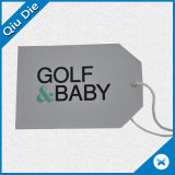 Special Shape Paper Golfbaby Brand Tag with Kid′s Apparel