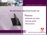 Machined Guide Rail for Elevator (SN-GR)