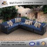 Well Furnir WF-17014 Wicker Sofa with Cushions