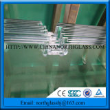 6mm Clear Bathroom Glass Tempered Glass with Notches