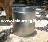 Fo-9706 Column Zinc Galvanized Flower Pots for Home Garden