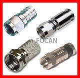 F Type Connectors for RG6, Rg58, Rg59, Rg11, Rg316, Ppc Ex11 and Ex6xl F Compression Connectors