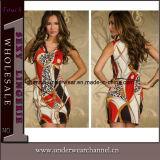Wolesale Lady Fashion Printing Mini Summer Dresses (N117)