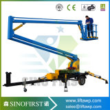 16m 10m Hydraulic Three Wheels Stable Towable Trailed Cherry Picker