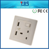 13A 1 Gang USB Electric Wall Power Switched Socket