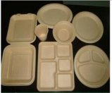 Biodegradable Sugarcane Bagasse Paper Tableware with High Quality
