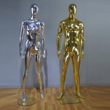 Golden Chromed Shining Male Mannequin for Fashion Display