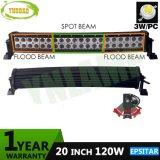 120W 20inch 9600lm Epistar LEDs Auto Light LED Curved Bar