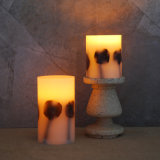Christmas Ornament Real Wax Flicker Flameless Pillar LED Candle Products