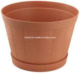 Round Plastic Barrel Planter (KD9702)