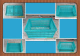 Eco-Friendly Top Quality Plastic Folding Storage Basket for Warehouse
