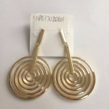 Fashion Jewelry Metal Gold Earrings for Wedding Decoration