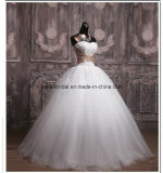 New Strapless Bridal Dresses Applique Wedding Ball Gowns Z2021