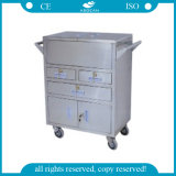 AG-Ss028 Ss Durable High-Quality Emergency Trolley