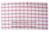 Factory Produce Customized Checked Cotton Woven Tea Towel Mat