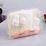 5PCS/Set Portable Travel Shampoo Cream Lotion Cosmetics Refillable Plastic Empty Bottles