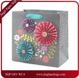Beautifully Crafted Gift Bag Has a Floral Glitter Design, Paper Gift Bag, Shopping Paper Bag