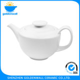 Wholesale 950ml Ceramic White Tea Pot