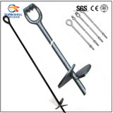 Outdoor Forged Steel Ground Screw Helix Earth Anchor