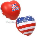 PU Foam Heart, Flag etc PU Stress Ball Promotional Gifts