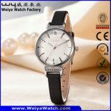 Fashion Casual OEM/ODM Leather Strap Quartz Ladies Watch (Wy-102C)