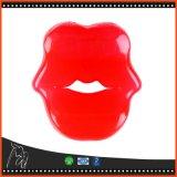Sexy Red Lips Kissing Vibrating Cock Ring Elastic Penis Ring Vibrator Delay Ejaculation