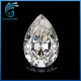 Vvs Clarity off White Color High Quality Pear Cut Lab Grown Moissanite Diamond