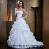 Two Piece Detachable Skirt Wedding Dresses Satin Wedding Gowns
