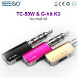 Seego Vape Kit Tc-50W Battery & G-Hit K3 E Liquid Invisible Dual Coil Atomizer