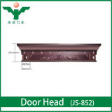 French Style Royal Wood Carved Double Entrance Door Header