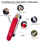 Multi-Function Portable Knife USB Charging Lighter