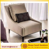 French Hotel Accent Chairs with Solid Wood Structure Upholstered Seat