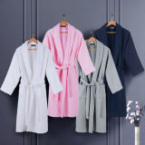 100% Cotton Colored Waffle Hotel Women Bathrobe/Robes
