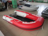 Glass Fiber Rib Inflatable Rubber Motor Boat with Outboard Engine