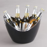 8L Double Wall Boat Shape Ice Bucket with Double Handles