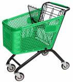 a Frame Plastic Shopping Trolley Cart