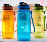 OEM Plastic Water Bottle with Rope for Promotion
