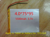 The New Battery 5500mAh Li-Ionbattery for 7, 8, 9 Inch Icoo 3.7V Polymer Lithiumion Battery with High Quality